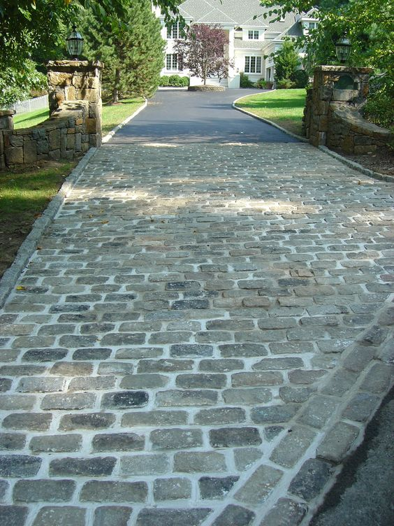 cobblestone patio designs 5