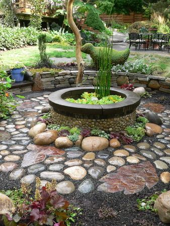 cobblestone patio designs 6