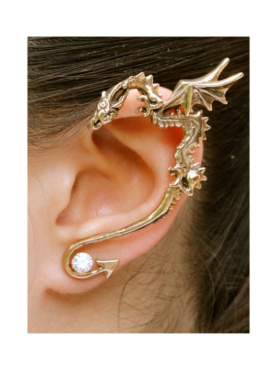 Deep and dangerous looking but dazzling dragon jewelry designs bored art - Game of thrones dragon ear cuff ...