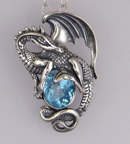 deep and dangerous looking but dazzling dragon jewelry
