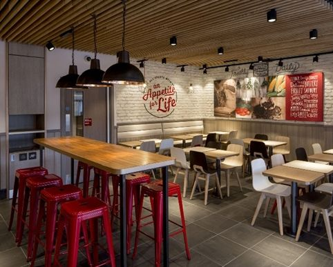 Fast food restaurant interior design ideas that you should focus on bored art Kitchen design for fast food restaurant