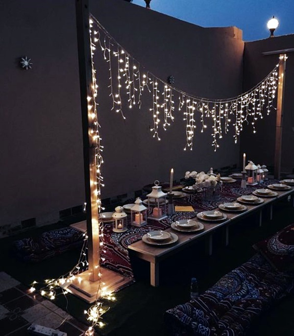 40 terrace light decoration ideas bored art for Terrace party