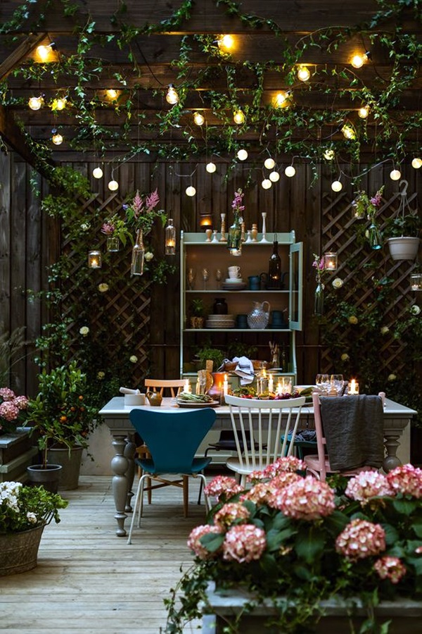 40 terrace light decoration ideas bored art for Terrace decoration ideas