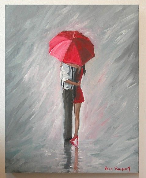 Unique and utterly captivating umbrella art to drizzle you for Painting red umbrella