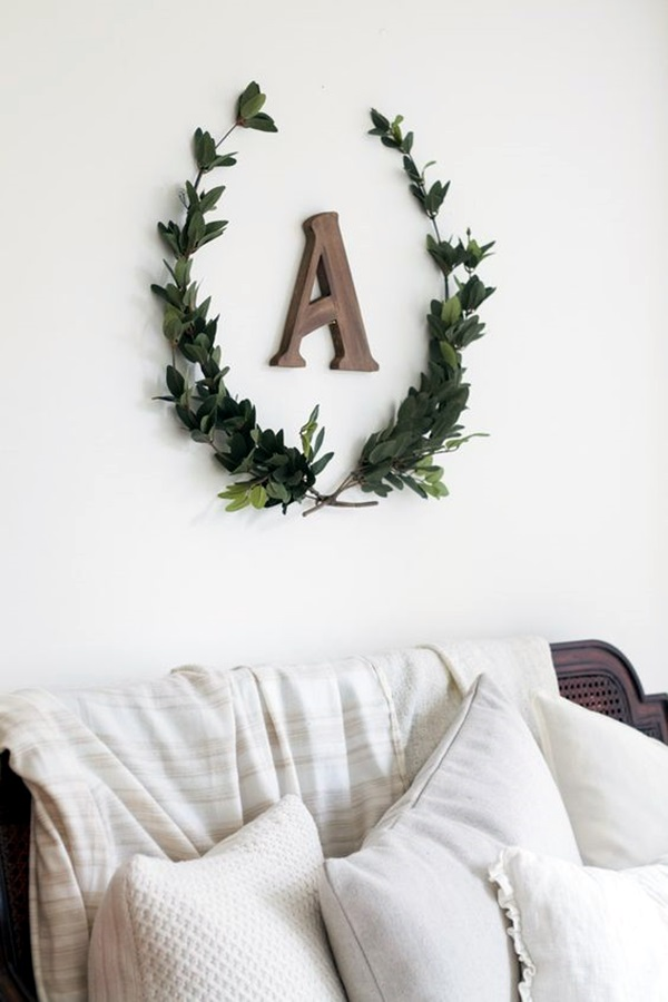 Monogram Wall Decor Ideas : Creative monogram wall art ideas