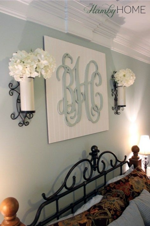 Creative Monogram Wall Art Ideas (10)