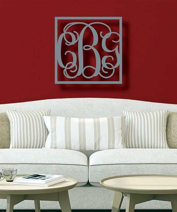 Creative Monogram Wall Art Ideas (11)