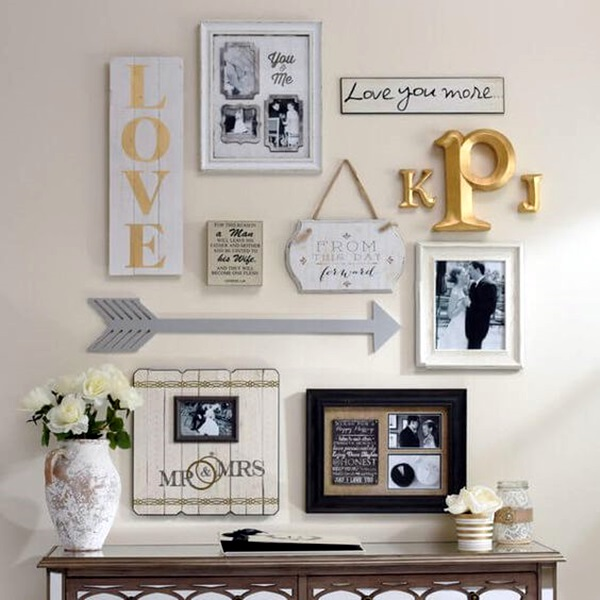 40 creative monogram wall art ideas Creative wall decor ideas