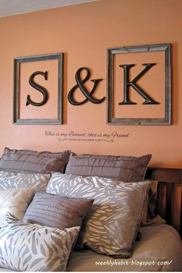 Monogram Wall Art 40 creative monogram wall art ideas