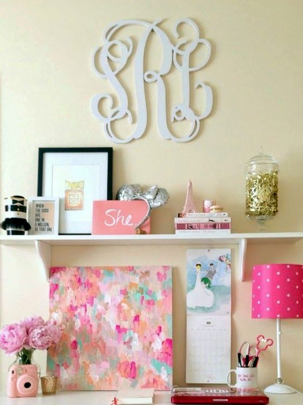 Creative Monogram Wall Art Ideas (18)