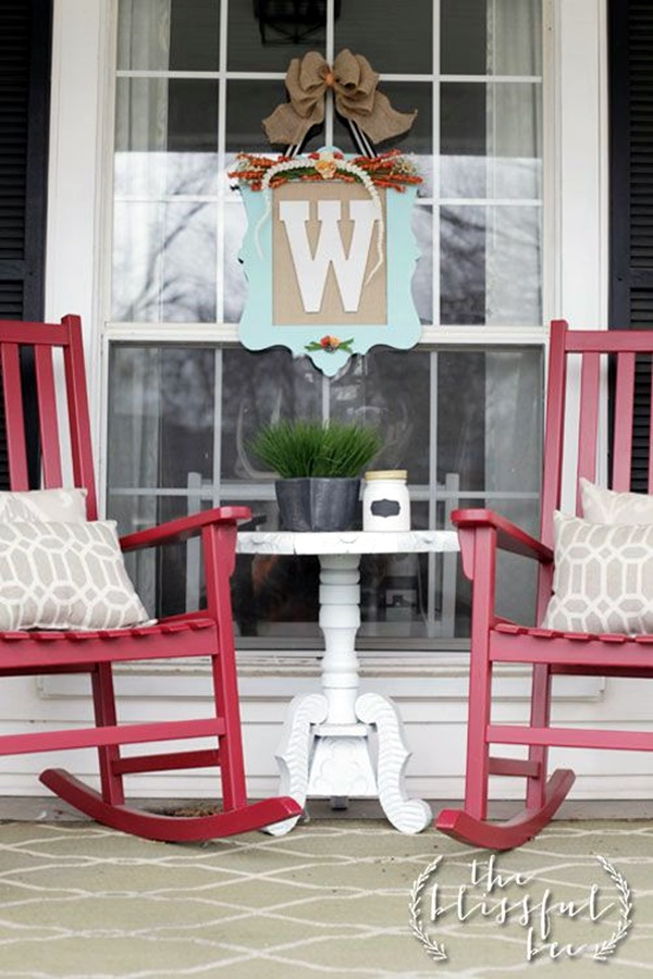 40 creative monogram wall art ideas for Front porch table ideas