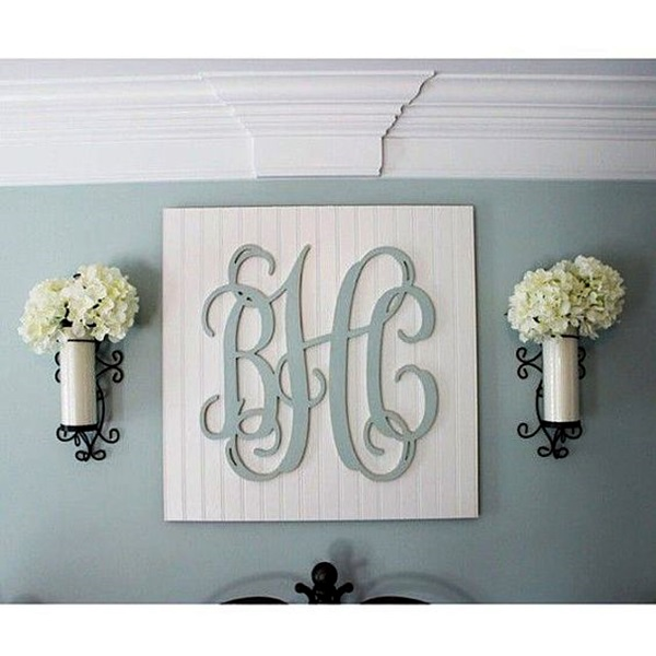 Creative Monogram Wall Art Ideas (29)