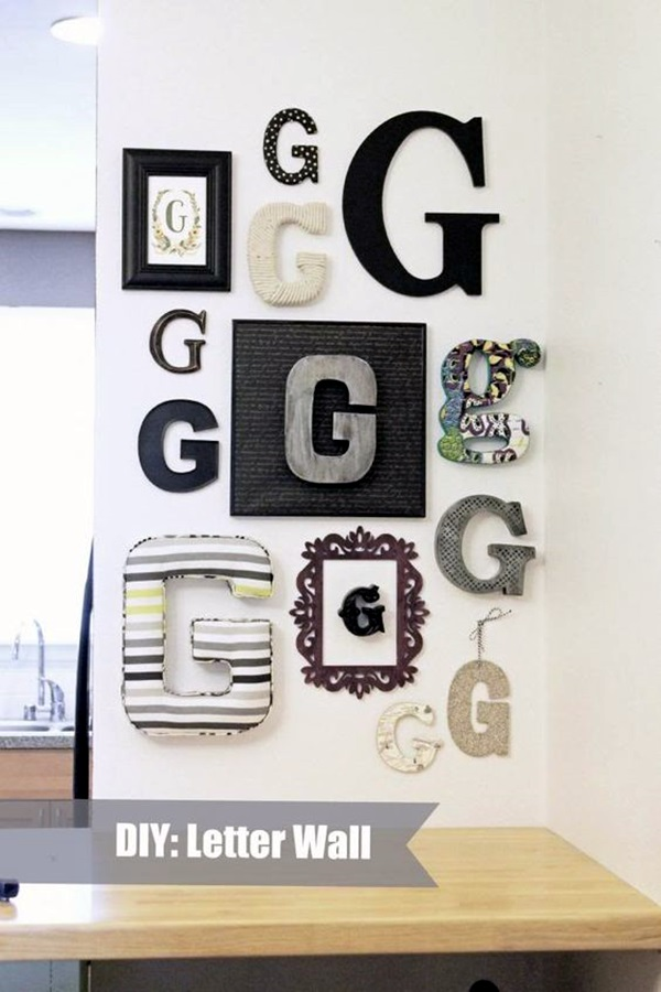 Creative Monogram Wall Art Ideas (32)