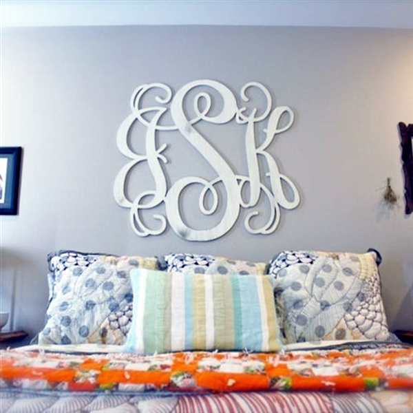 Creative Monogram Wall Art Ideas (33)