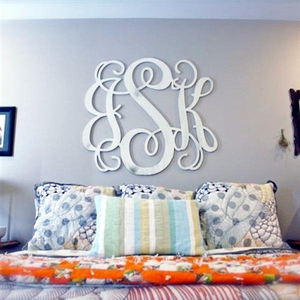 Monogram Wall Decor Ideas : Creative monogram wall art ideas