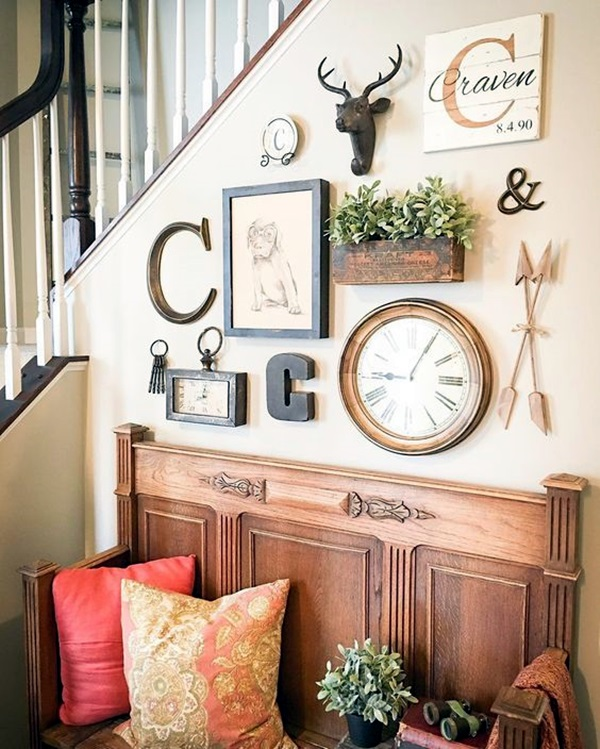 Wall Decorating Ideas: 40 Creative Monogram Wall Art Ideas