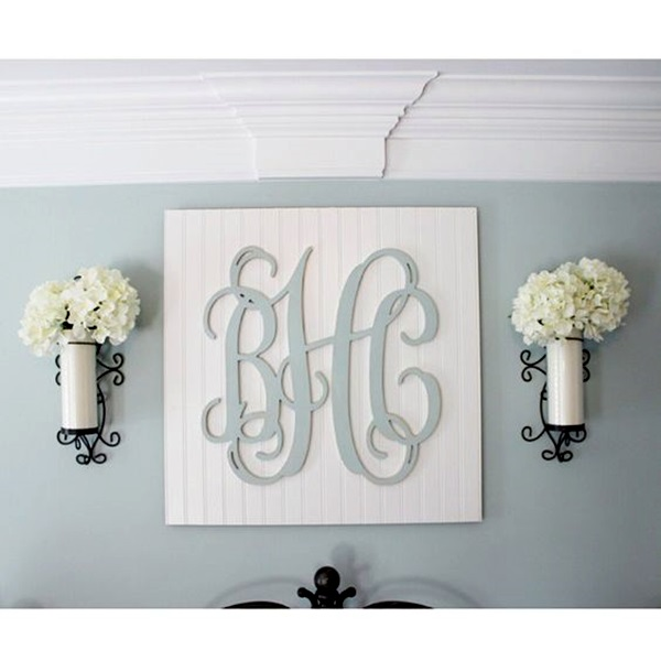 Creative Monogram Wall Art Ideas (5)