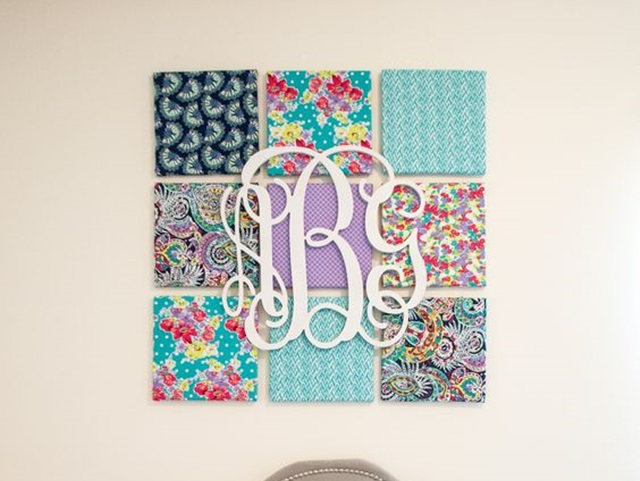 Creative Monogram Wall Art Ideas