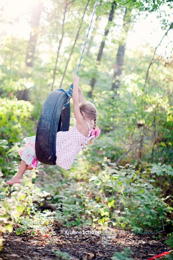DIY Tree Swing Ideas For More Family Time (14)