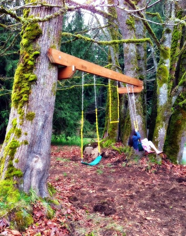 DIY Tree Swing Ideas For More Family Time (31)