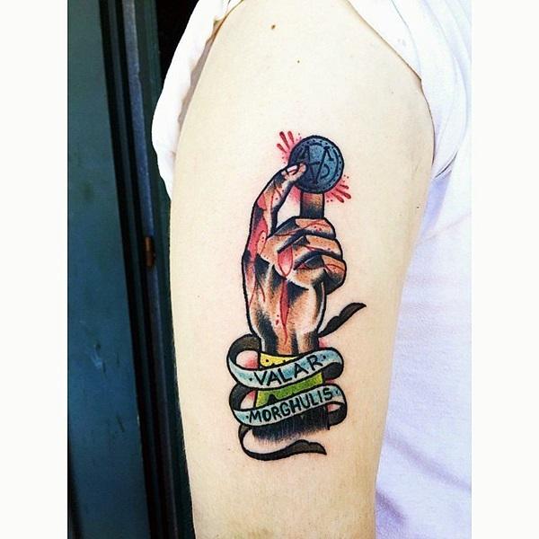 Fanciful Valar Morghulis Tattoo Designs (1)