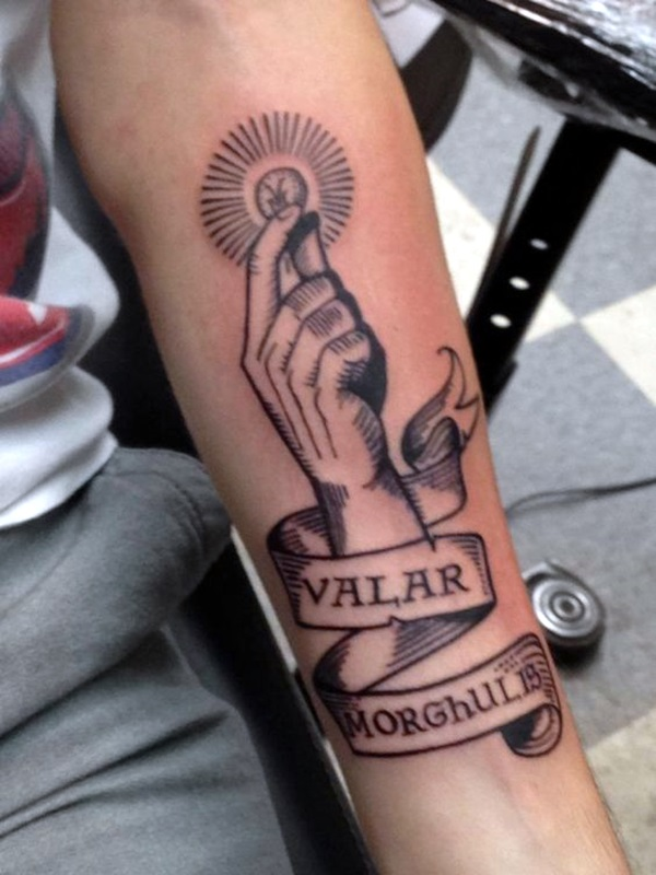 40 Fanciful Valar Morghulis Tattoo Designs