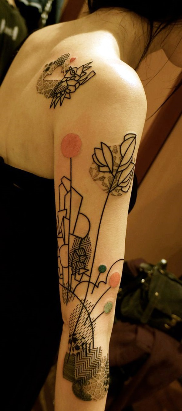 Incredibly Artistic Abstract Tattoo Designs (31)