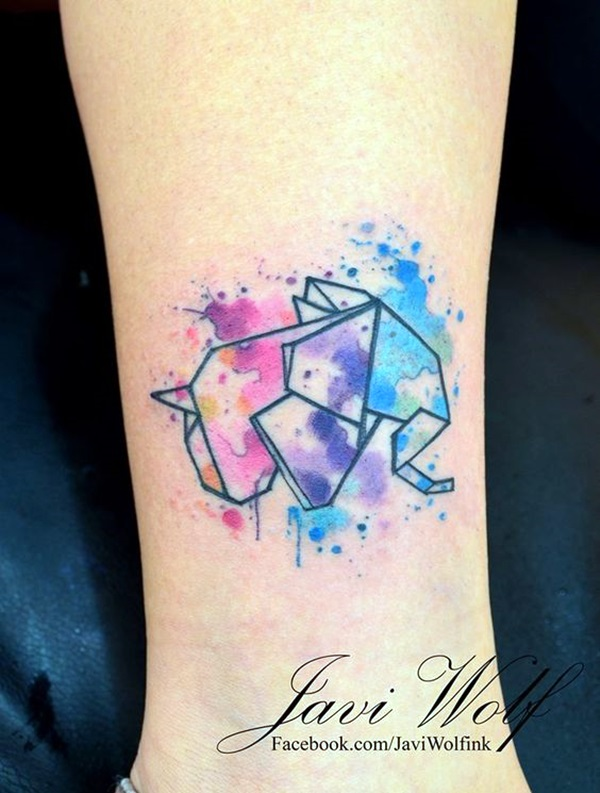 Lovely Origami Tattoo Designs (In Trend) (11)
