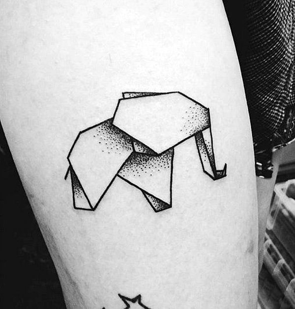 Lovely Origami Tattoo Designs (In Trend) (15)