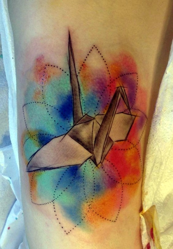 Lovely Origami Tattoo Designs (In Trend) (18)