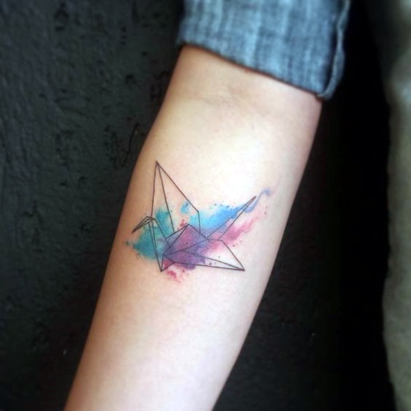 Lovely Origami Tattoo Designs (In Trend) (21)