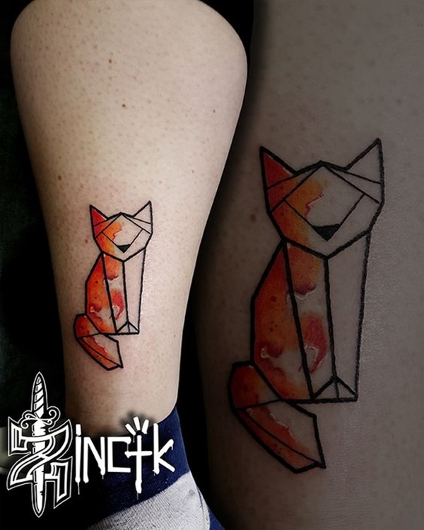 Lovely Origami Tattoo Designs (In Trend) (27)