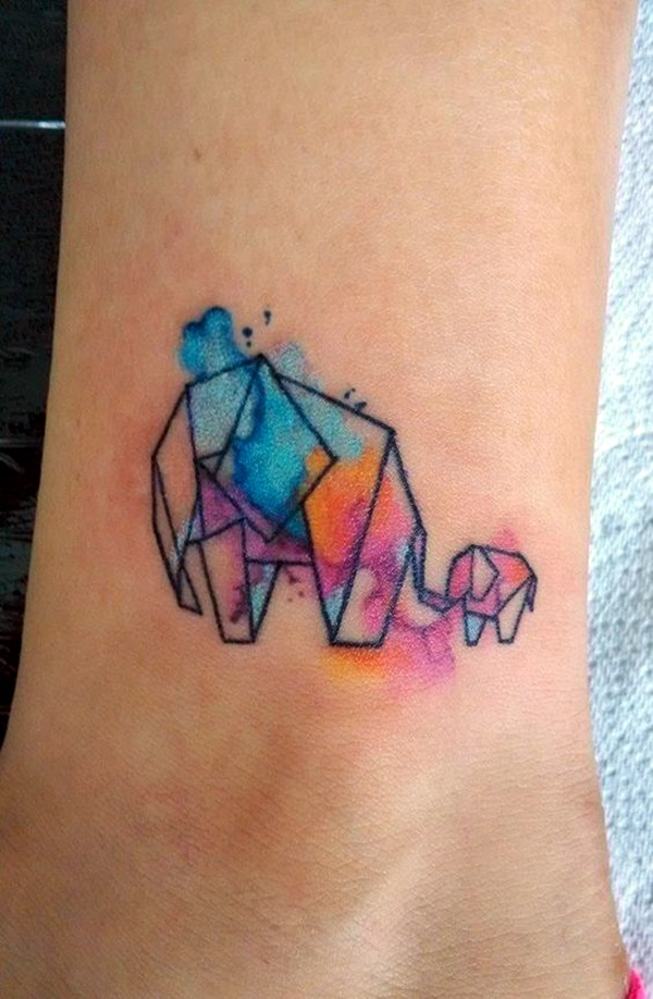 Lovely Origami Tattoo Designs (In Trend) (32)