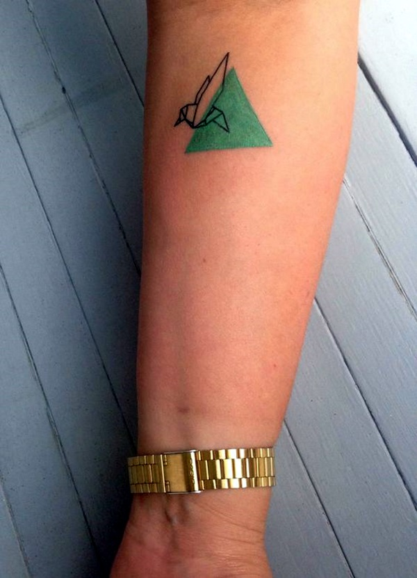 Lovely Origami Tattoo Designs (In Trend) (34)