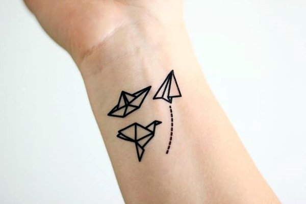 Lovely Origami Tattoo Designs (In Trend) (4)
