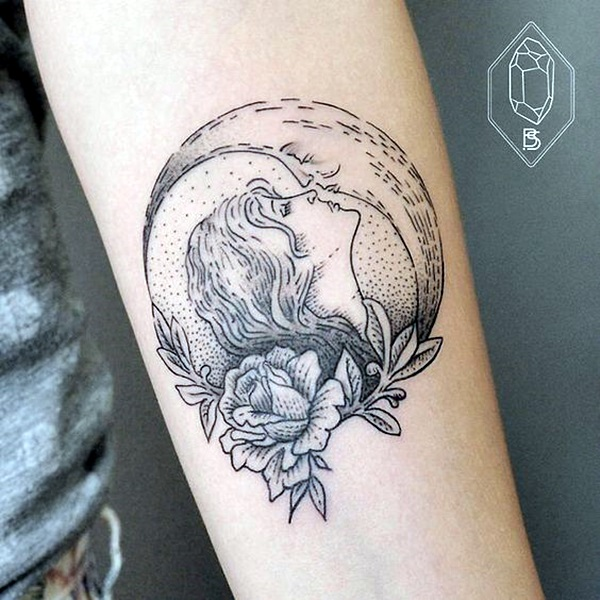 Magical Moon Tattoo Designs (14)