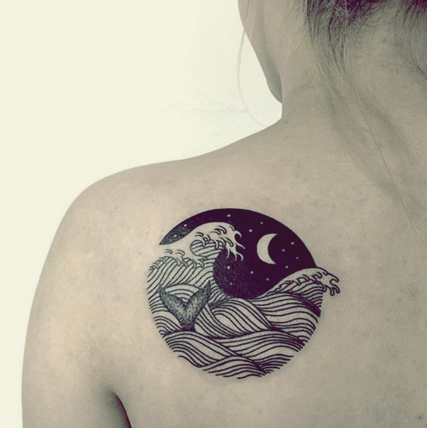 Magical Moon Tattoo Designs (19)
