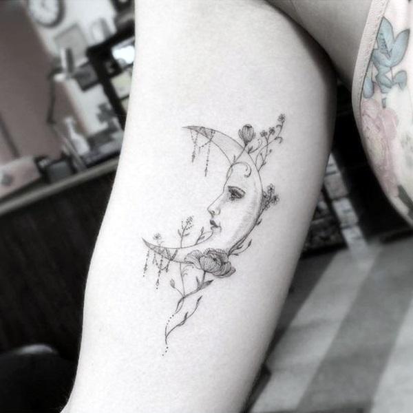 Magical Moon Tattoo Designs (2)