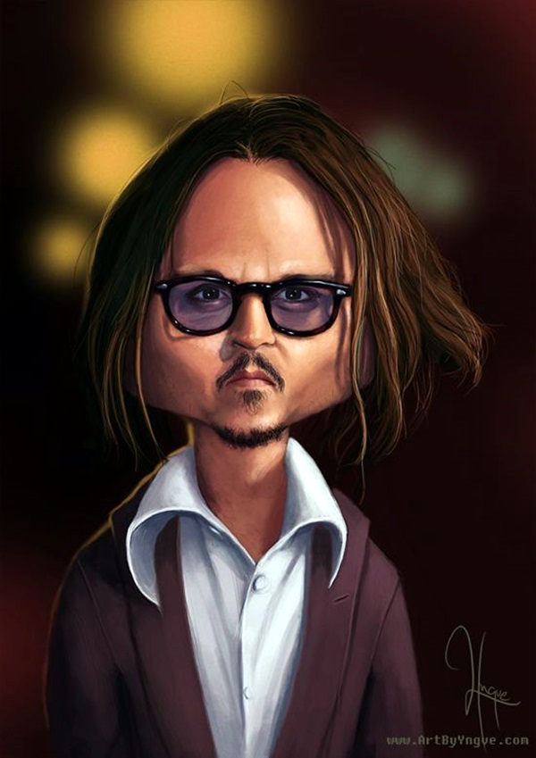 Portrait Caricatures Of Famous Peoples (20)