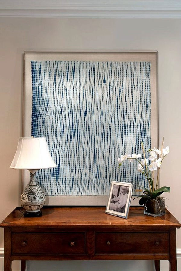 Ridiculously Artistic Fabric Wall Art Ideas (12)