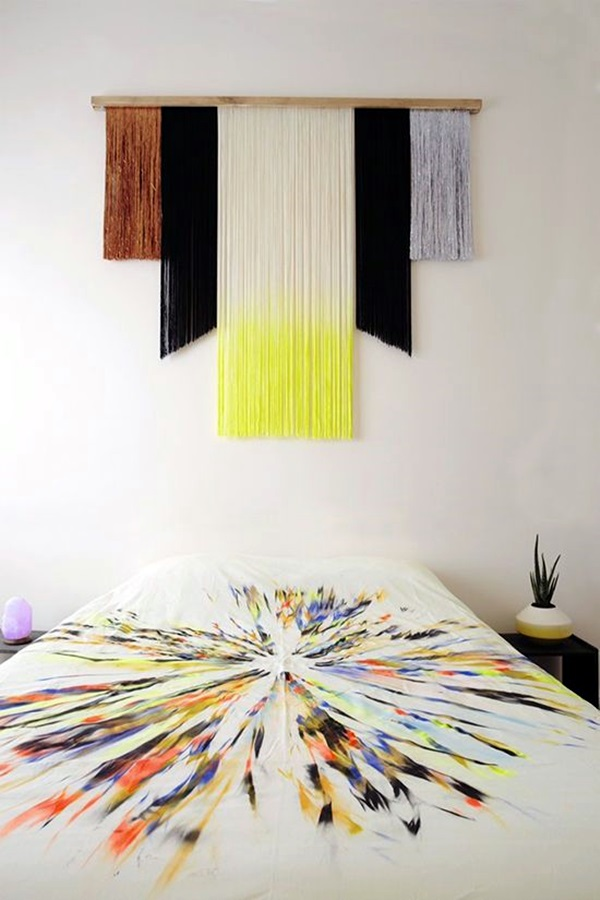 Ridiculously Artistic Fabric Wall Art Ideas (23)