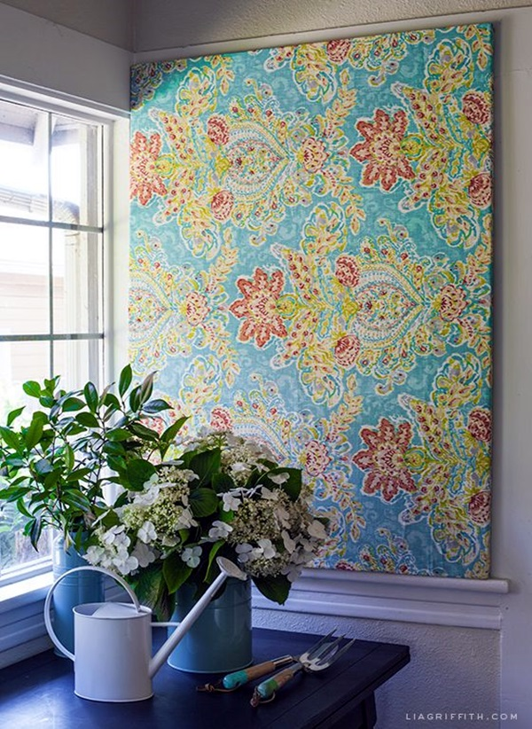Ridiculously Artistic Fabric Wall Art Ideas (24)