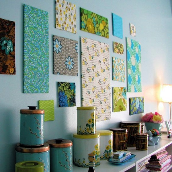 Ridiculously Artistic Fabric Wall Art Ideas (27)