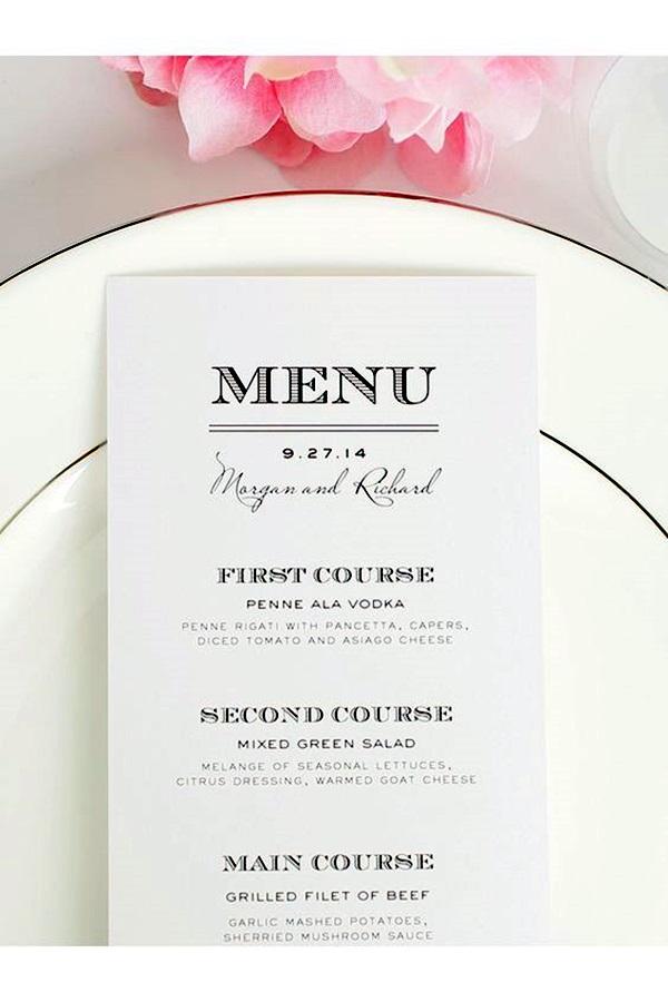 restaurant to go menus