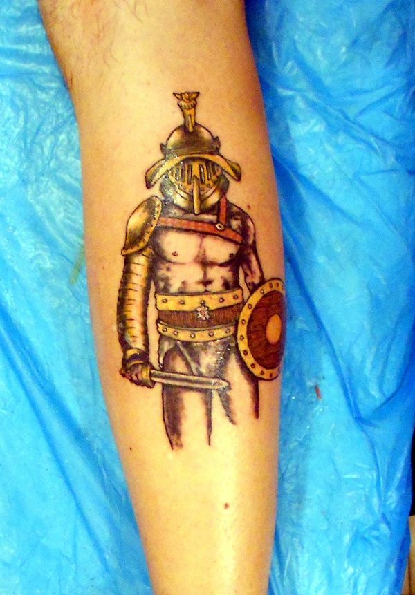 Valiant Gladiator Tattoo Designs (36)
