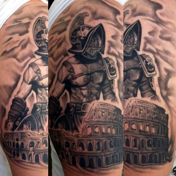Valiant Gladiator Tattoo Designs (37)