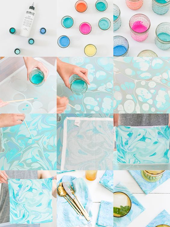 DIY Fabric Marbling - Learn How To Do This - Bored Art