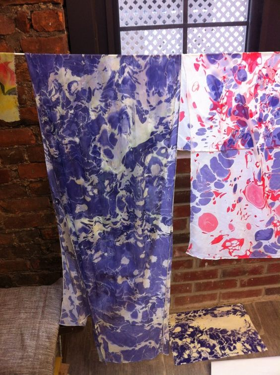 Diy Fabric Marbling Learn How To Do This Bored Art