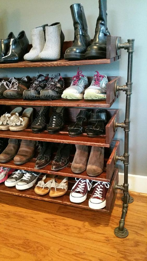 picking out a practical and convenient shoe rack design for your home