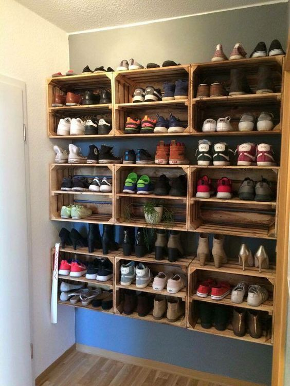 superbly practical and convenient shoe rack designs bored art. Black Bedroom Furniture Sets. Home Design Ideas